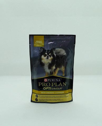 Pro Plan пауч для взрослых собак контроль веса курица 100г
