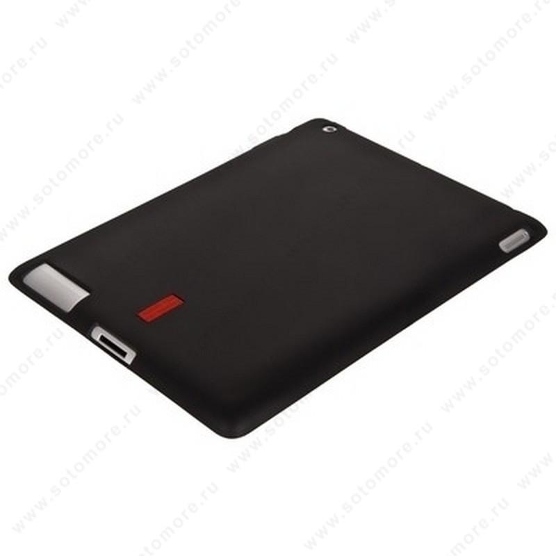 Накладка силиконовый для Apple iPad 2 С лэйбой жесткий черный