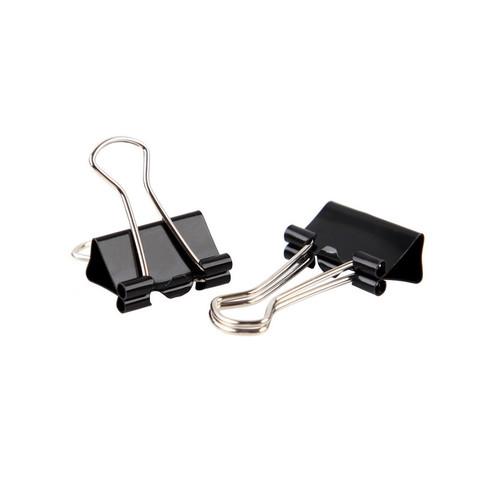 Зажимы для бумаг Attache Economy 19 мм черные (12 штук в упаковке)