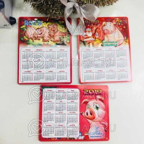 Магнит календарь новогодний 2019 символ года