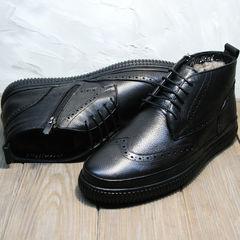 Модные зимние ботинки мужские Rifellini Rovigo C8208 Black
