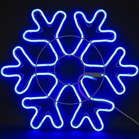 Снежинка светодиодная d-52 см. Фигура из гибкого неона