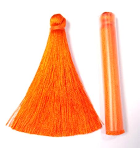 Кисточка 7 см, цвет оранжевый