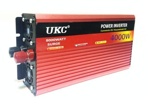 Инвертор 24-220V 4000W 24 вольт на 220вольт 4000 Ват преобразователь напряжения YURNIX Юрникс