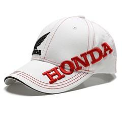 Кепка с вышитым логотипом Хонда (Бейсболка Honda) белая