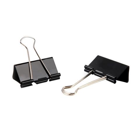 Зажимы для бумаг Attache Economy 51 мм черные (12 штук в упаковке)