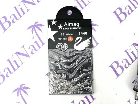 Стразы Aimaq PROFESSIONAL (белые) ss4, 1440 шт с подложкой