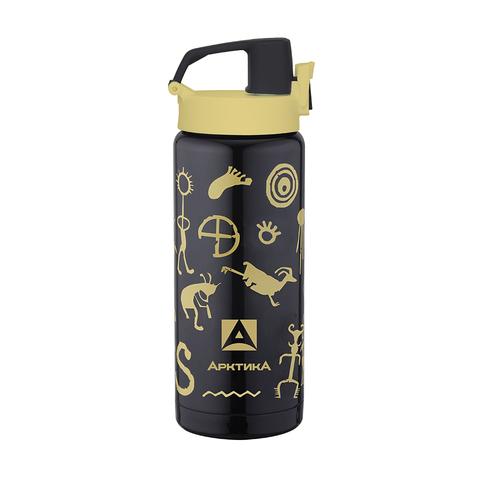 Термос (сититерм-вакуумный) Арктика (0,5 литра), черный вуду
