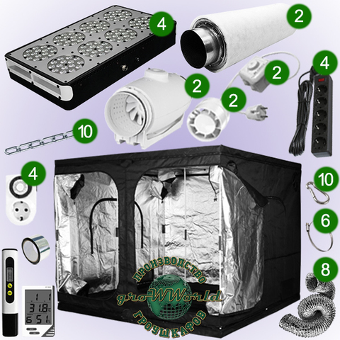 240х240х200 PROBOX  APOLLO 8х4 LED SUPERSILENT