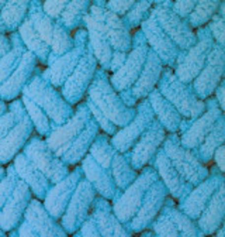 Пряжа Alize Puffy 16 ярко-голубой