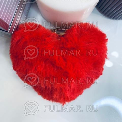 Брелок Пушистое сердце (11,5х9,5х3 см)