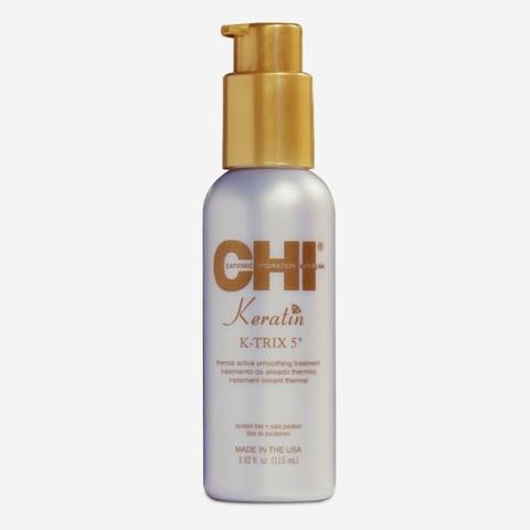 Разглаживающая эмульсия для волос с кератином CHI Keratin Thermal Active Smoothing Treatment K-TRIX 5