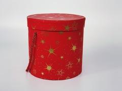 Подарочная коробка Красная круглая 18,5x18,5 см