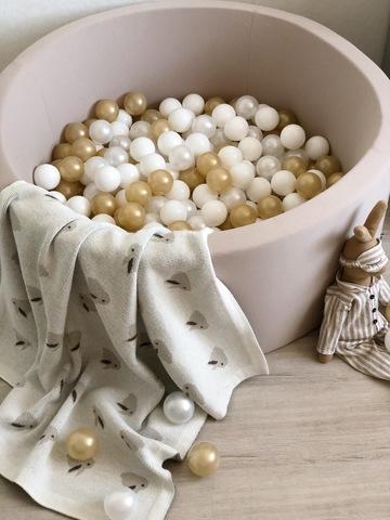 Сухой бассейн Anlipool 100/40см Бежевый комплект №14 200 шаров Golden Sand