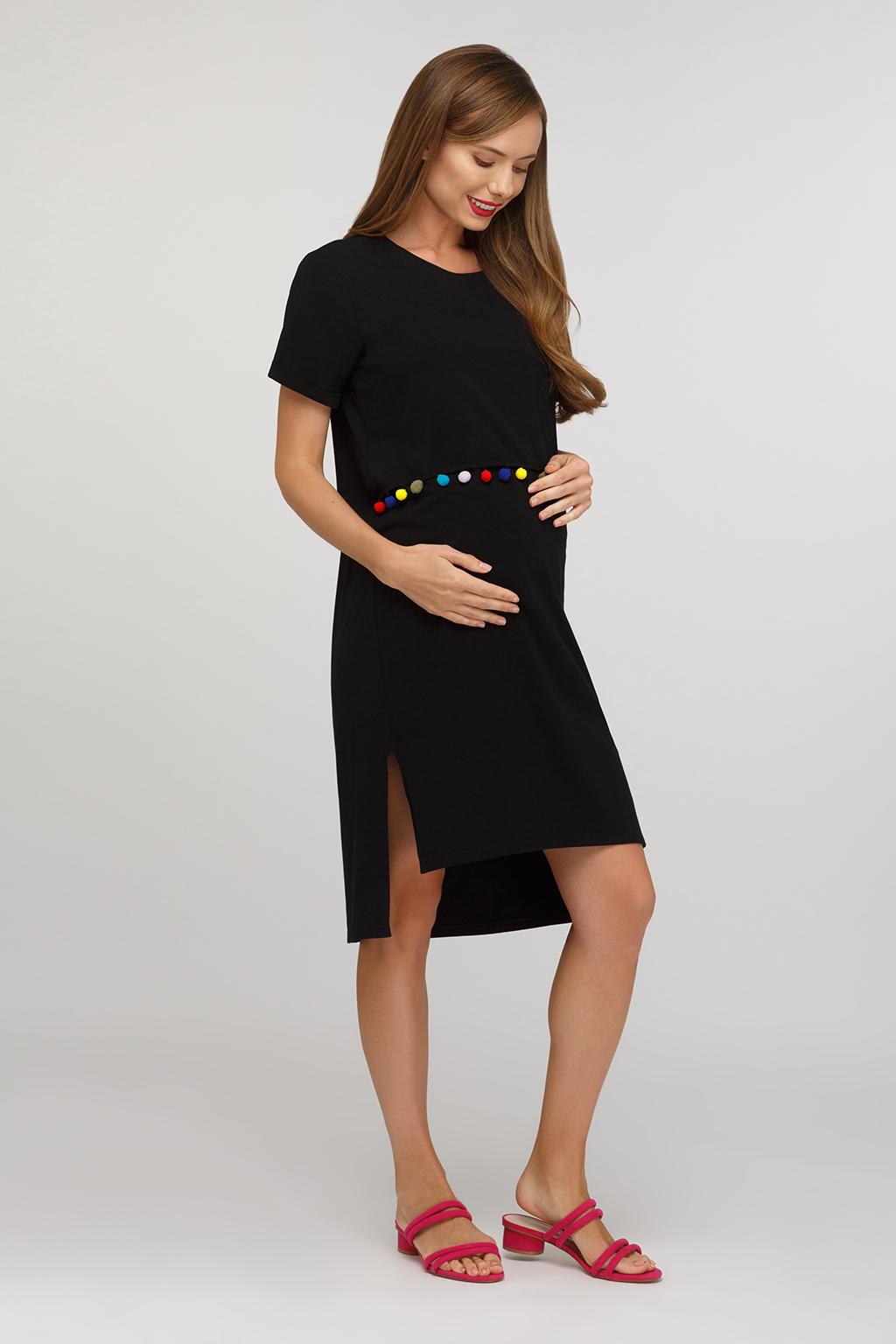 Платье-футболка для будущих и кормящих мам - Фото 3