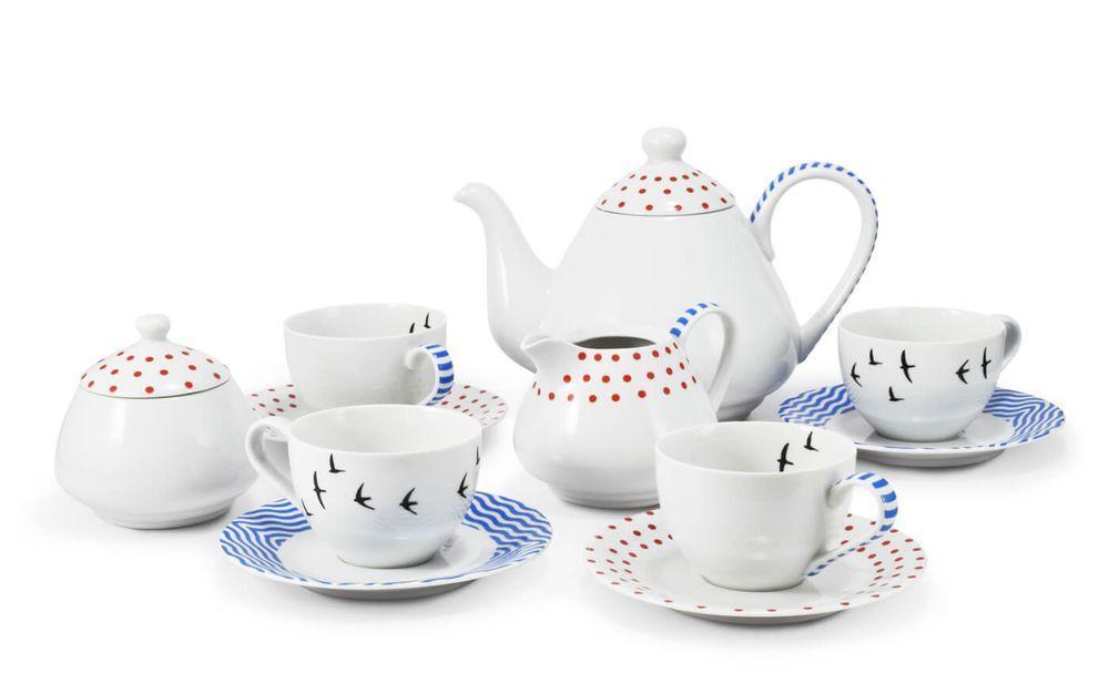 Чайный сервиз 11 предметов BE FREE Leander MIX