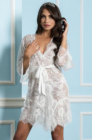 Халат женский из кружева   MIA-MIA  Шанель  2023 белый