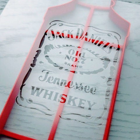 Трафарет бутылка Jack Daniel's