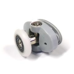 Корпус ролика R-17-В 23 выполнен из пластика, имеет два посадочных места размером 11 мм. и межцентровым 30 мм. Регулировка ролика происходит за счет винта.