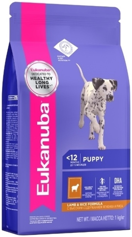 Сухой корм Eukanuba Puppy All Breed Lamb&Rice