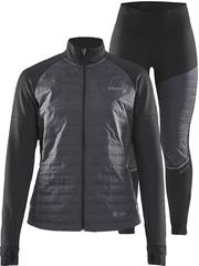 Элитный утеплённый беговой костюм Craft Sub Zero Jacket 2020 женский (черный)
