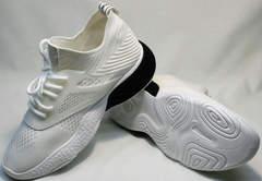 Белые объемные кроссовки городской стиль женские El Passo KY-5 White.