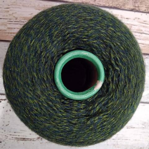 Смесовка шерсть с акрилом мулине зеленый