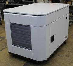 Всепогодный шумозащитный еврокожух  SB1200 серый вид слева