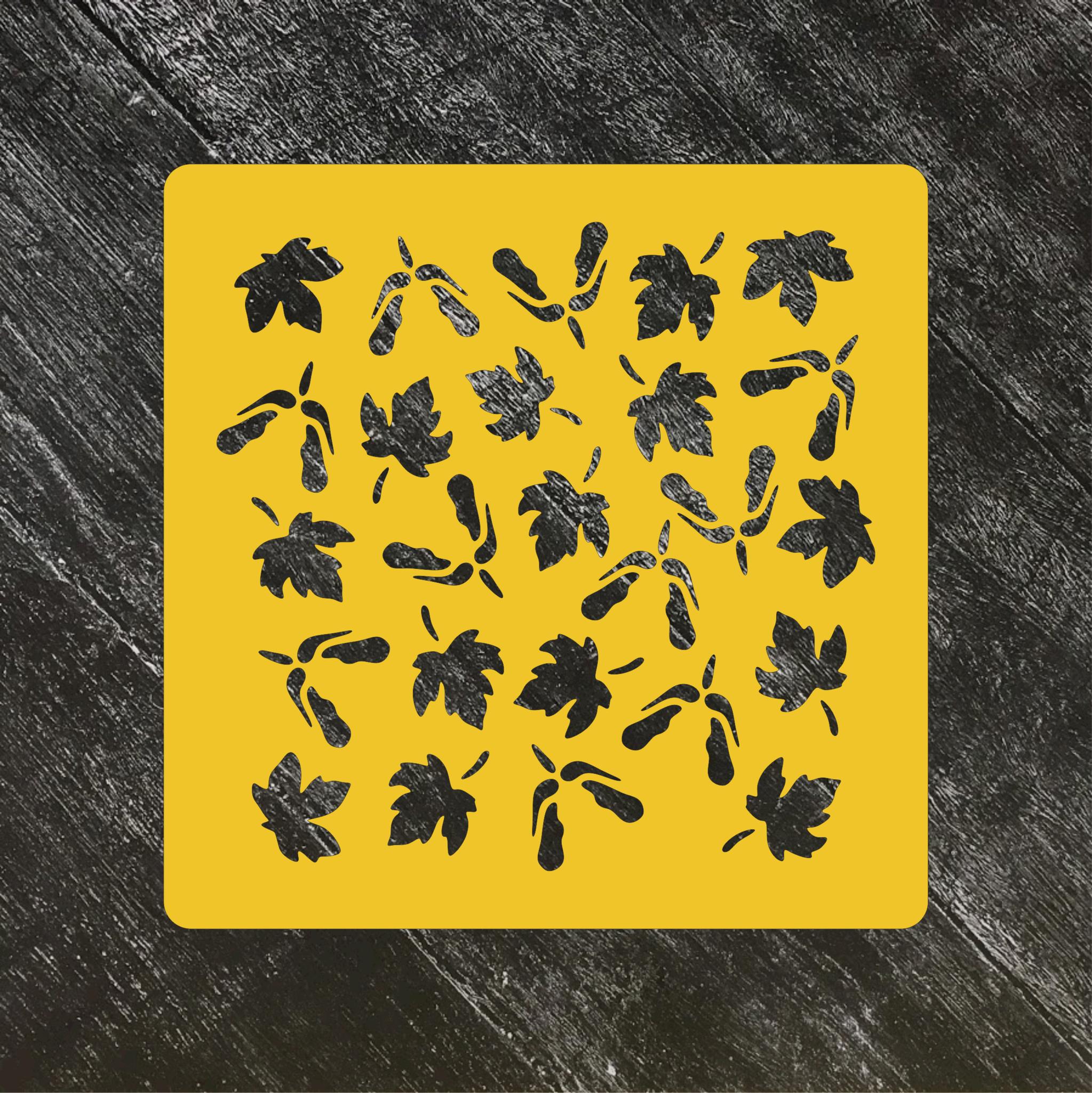 Трафарет осень №11 Кленовые листики
