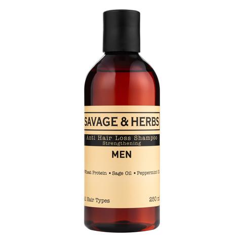 Мужской шампунь против выпадения волос с провитаминами В3,B5. Веганский травяной шампунь с органическими маслами