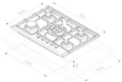 Варочная панель Korting HG 7115 CTRR схема
