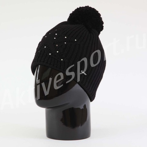 Картинка шапка Eisbar chantal pompon crystal 009