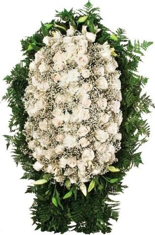 Траурный венок из живых цветов ВЖ 10 -180 см