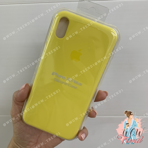 Чехол iPhone XS Max Silicone Case /canary yellow/