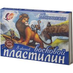 Пластилин Фантазия Луч 8 цв.,стек. 140 гр., 25С 1522-08