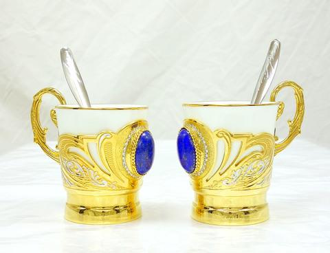 Кофейная пара подарочная с лузуритом