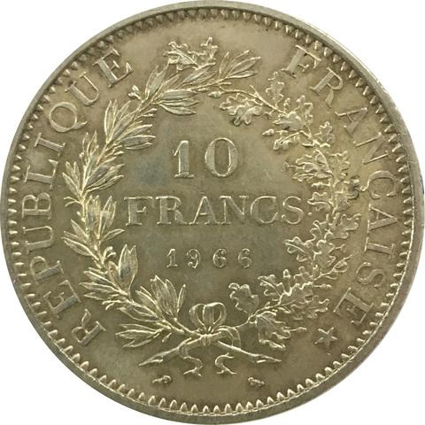 10 франков 1966 год. Франция (XF+)
