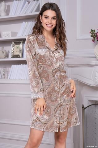 Рубашка халат Mia Amore Clementina 3457 (70% шелк)