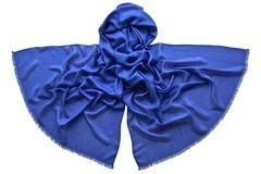 Палантин синий из шелка 4735
