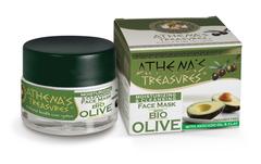 Греческая маска для лица очищающая и увлажняющая c органическими маслами и глиной ATHENAS TREASURES 50 мл