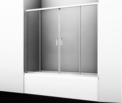 Стеклянная шторка на ванну WasserKRAFT Lippe 45S02-170 170х150 см