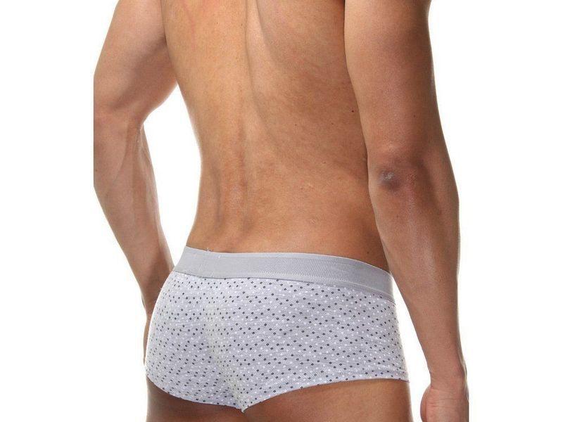 Трусы мужские хипсы серые с внешним карманом DARKZONE DZN2433