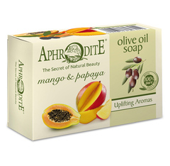 Оливковое мыло с манго и папайей, Aphrodite