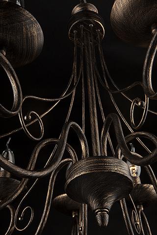 Люстра 22404/8 черный с золотом