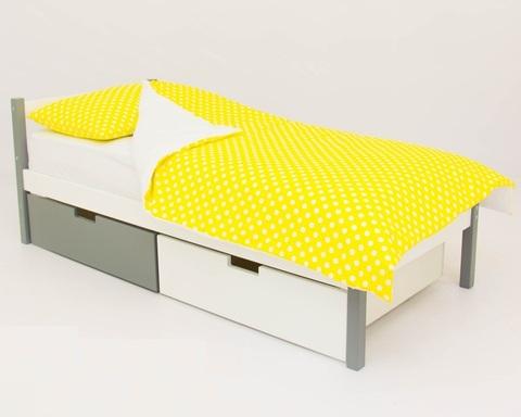 Кровать SKOGEN графит-белый