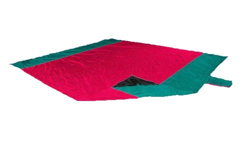 Картинка пляжное покрывало Ticket to the Moon Beach Blanket Red/Emerald Green