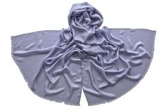 Палантин из шелка серый 4738