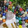 Полная палитра цветов, 35 оттенков, объем 30 мл, лаковые краски, оттенки металлик