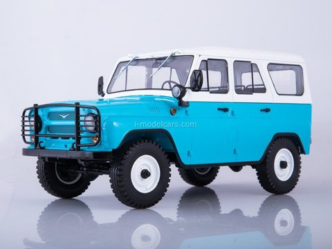 UAZ-31514 blue-white 1:18 Start Scale Models (SSM)