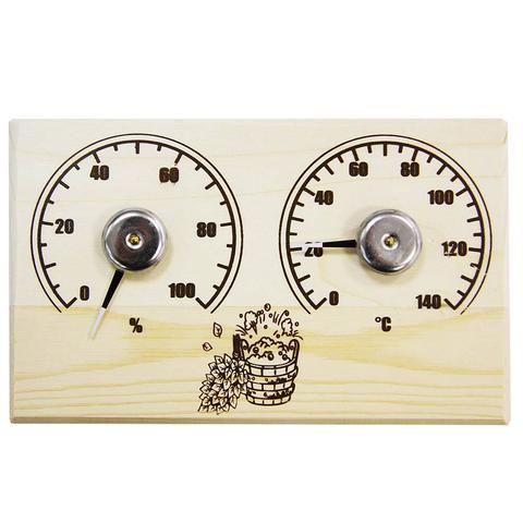 Банная станция открытая термометр+гигрометр прямоугольная СБО-2тг
